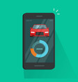 smartphone dashboard with car diagnostic data vector image