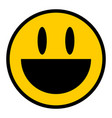 smiley icon smiling face flat style vector image