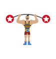 strong man in circus vector image vector image