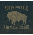 Symbol of buffalo vector image vector image