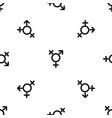 transgender sign pattern seamless black vector image vector image