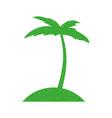 tree palm beach icon vector image vector image