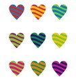 Two Color Heart Element vector image vector image