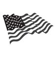 usa grayscale flag icon vector image vector image