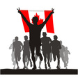 Winner of the flag of Canada vector image vector image