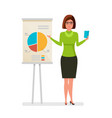 woman office worker conferences presentation vector image