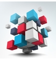 Composition with 3d cubes vector image