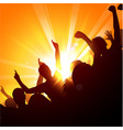 Crowd at a concert vector image