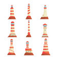 searchlight towers for maritime navigational vector image
