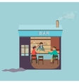 Friends sitting in bar Winter vector image