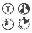 business icons time management concept vector image