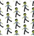 zombie halloween costume pattern vector image