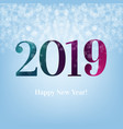 2019 blue new year postcard vector image vector image