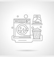 a laundry room detailed line vector image