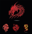abstract and tradition religion red dragons vector image vector image