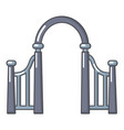 archway metal icon cartoon style vector image vector image