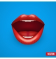 Background of Womans mouth with open lips vector image