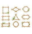 bamboo frames geometric forms nature bamboo vector image vector image