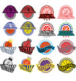Basketball Badges with Stars and Laurel Wreath vector image vector image