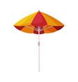 beach sun umbrella summer vacation object vector image