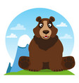 bear on the theme of protection of animals and vector image vector image
