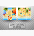 beautiful top view summer beach background vector image vector image