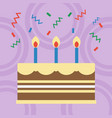 birthday cake flat design vector image