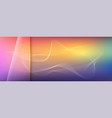 blend of lines on multi colored background vector image