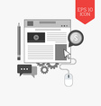 Blog icon Managing website concept Flat design vector image vector image