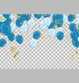 blue balloons confetti concept design vector image