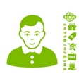 Boy Icon With Free Bonus vector image vector image