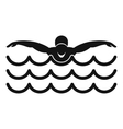 Butterfly swimmer icon simple style vector image vector image