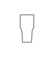 Cocktail glass icon outline vector image vector image
