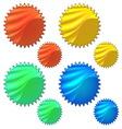 colourful set halogram sticker vector image vector image