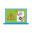 Computer worms viruses vector image