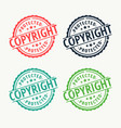 copyright badge rubber stamp set in different vector image