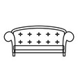 crown sofa icon outline style vector image vector image