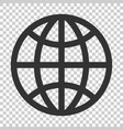 earth planet icon in flat style globe geographic vector image vector image
