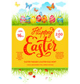 easter eggs poster vector image vector image