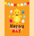 easter gift card in flat design vector image