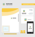 ecg business logo file cover visiting card and vector image