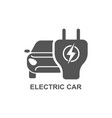electro car simple related icon set vector image