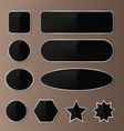 Elegant Black-Silver Web Buttons vector image vector image