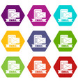 email icons set 9 vector image vector image