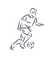 footballer running with ball vector image vector image