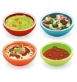 four foods in bowl vector image