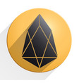 gold coin with eos cryptocurrency sign vector image vector image