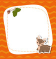 greeting card with cute deer greeting card with vector image vector image