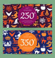 halloween gift card or voucher templates vector image vector image