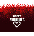 happy valentines mosaic red background abstract vector image
